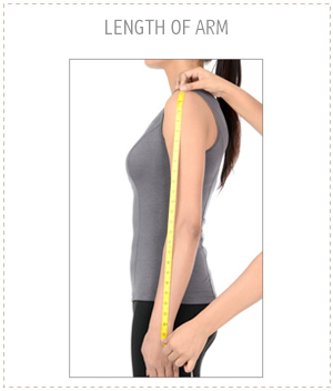 Measure From The Top Of Your Shoulder Along Arm To Where Wrist Meets Hand Just Past Bone Thats Length